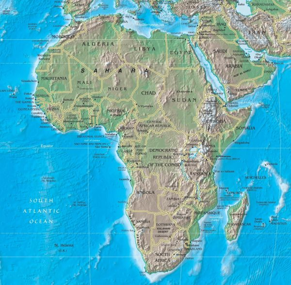Nat Geo Sub Saharan Africa Political Map Imgurl