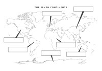 Continents Map Worksheet - Letravideoclip
