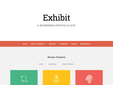 Exhibit is the perfect theme for businesses big and small to exhibit their work. Acting as both a portfolio and a blog Exhibit allows you to show off your projects, and to keep your customers informed.