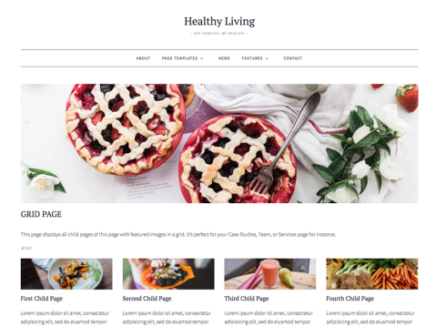 Healthy Living is a fresh, simple, and well-rounded blogging theme. With its laid-back, modern design, and beautiful typography, this theme gives your content the deserved spotlight and draws your readers right in. It is fully responsive and includes different page templates, post formats, and a custom header image to expand your customizing options.