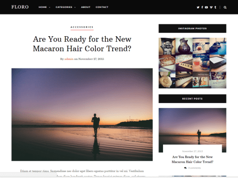 Heart And Style is a clean and well coded theme with a design primarily for feminine blogs but not limited to it.