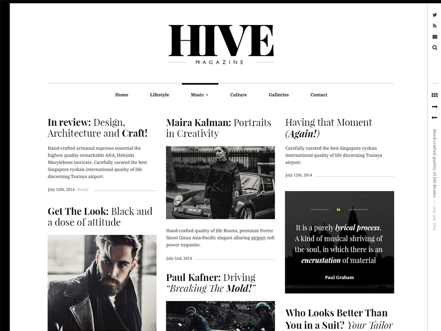 Hive Theme — WordPress com