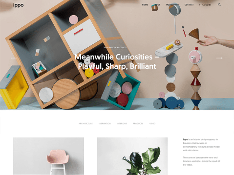 Ippo is a clean, responsive theme for all creatives, especially interior designers and fashion bloggers. Ippo puts your photos and lifestyle mood boards front and center.