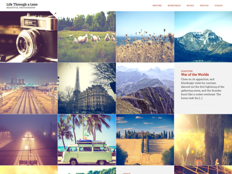 Lens is a photo-oriented theme, great for people who like to tell stories with pictures, equally suitable for bloggers, scrapbookers, and writers.
