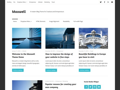 Maxwell is a modern blog theme with an ultra clean and elegant design. With its beautiful typography and thoughtful white space, Maxwell truly helps you to stand out with your content.