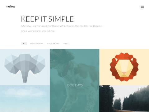 A minimal portfolio theme.