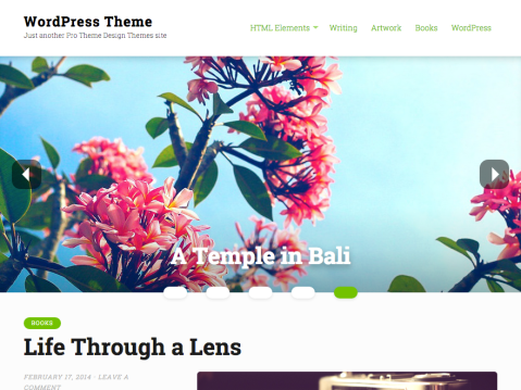Mirror is a blog focused theme showcasing large featured images and clear typography. A large featured content slider in the header helps your top content to shine.