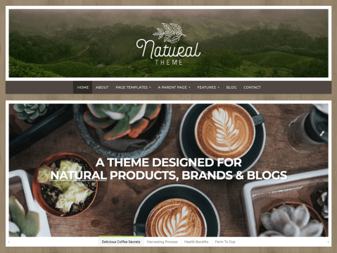 A versatile business website and blog with a natural and earthy design.