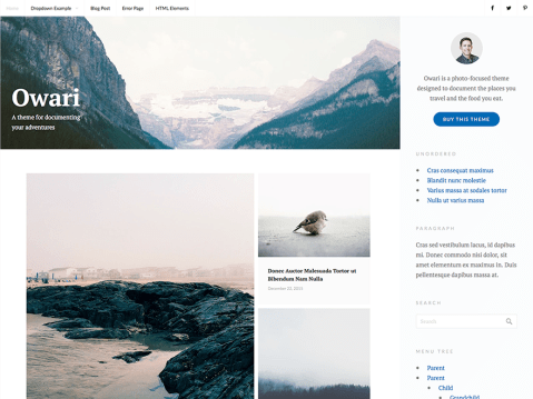 A theme for documenting your adventures.