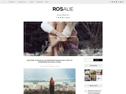 Rosalie is an elegant, minimalistic and responsive modern WordPress theme built specifically for bloggers who love craft, lifestyle, fashion and generally are cool people. Designed for WordPress.com.