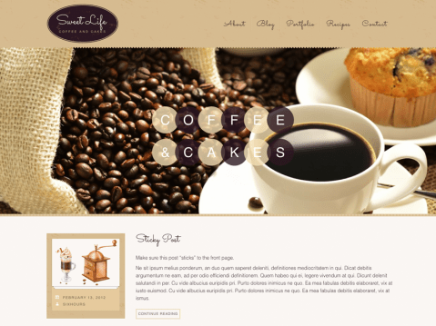 Sweet Life is an easy to use theme with responsive layout that looks great on any device, big or small. Sweet Life features different post formats, each displayed in their own unique way. If you want to make your blog post more flexible you can use different kinds of post formats such as image, gallery, video, aside, link or quotes.