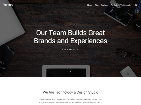 Clean and creative portfolio theme which is focused on designers, developers, freelancers, photographers, architects, or any other individuals who want to showcase their work.