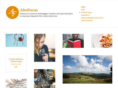 AltoFocus is a theme for photographers, artists, and other creative types in search of a simple and easy way to display their work.