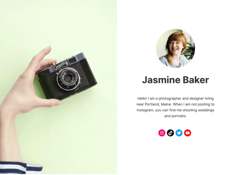Baker is a minimalist theme, designed for single-page websites. Its single post and page layouts have no header, navigation menus, or widgets, so the page you design in the WordPress editor is the same page you'll see on the front end.