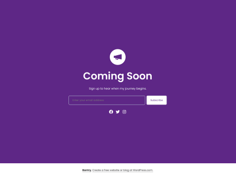 Bantry is a minimalist theme, designed for single-page websites. Its single post and page layouts have no header, navigation menus, or widgets, so the page you design in the WordPress editor is the same page you'll see on the front end.