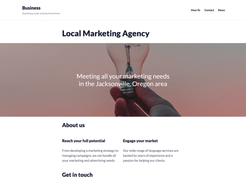 A small-business theme for the WordPress Editor.