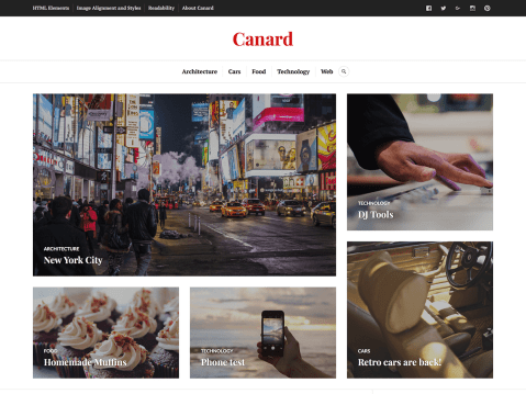 A flexible and versatile theme perfect for magazines, news sites, and blogs. It lets you highlight specific articles on the homepage and balances readability with a powerful use of photography — all in a layout that works on any device.
