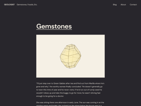 Geologist is a streamlined theme for modern bloggers. It consists of a simple single column of posts, paired with a sophisticated color palette and beautiful sans-serif typography.