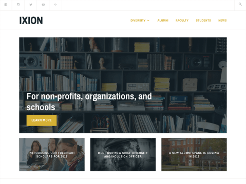 A theme for non-profits, organizations, and schools.
