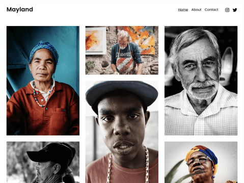 Make your online portfolio wonderfully uncluttered with Mayland. Gracefully highlight your photography and other projects. Mayland is versatile enough to be your personal site too.
