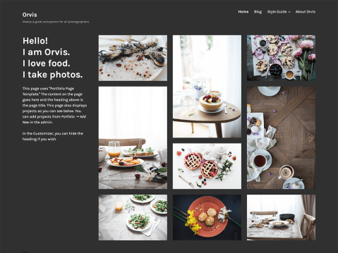 Orvis is a portfolio theme crafted with designers and photographers in mind. It's a minimalist, powerful, and flexible theme that puts the focus on your projects.