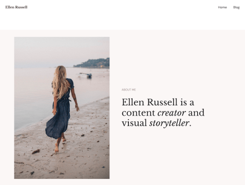 Russell is a simple blogging theme that supports full-site editing. It comes with a set of minimal templates and design settings that can be manipulated through Global Styles.