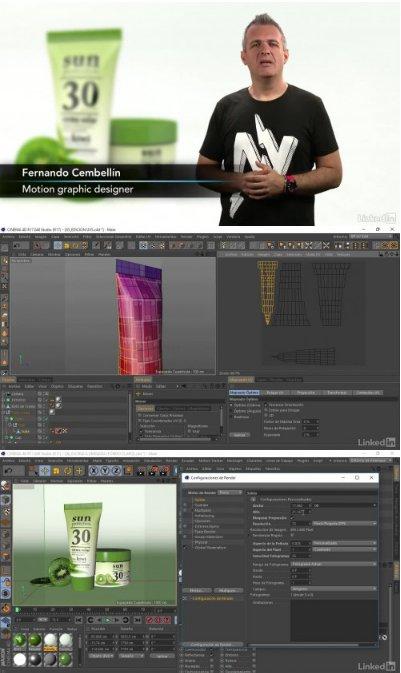 Video2Brain: Curso Ejemplo práctico con Cinema 4D: Presentación de producto