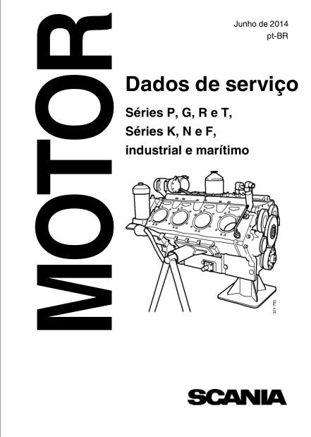 Dados de serviço Séries P, G, R e T, Séries K, N e F