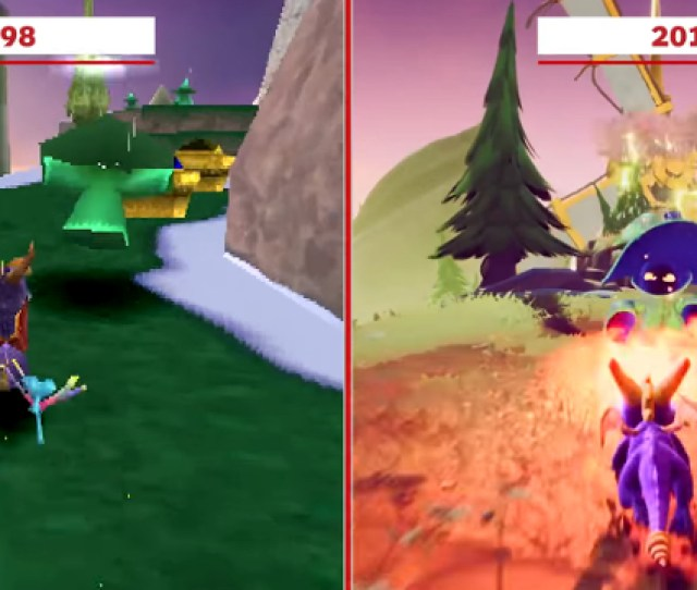 See The Difference Between The First Spyro Games And The Reignited Trilogy In This Visual Comparison Video