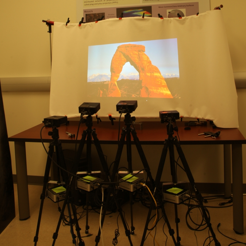 A MultiProjector Display System of Arbitrary Shape Size and Resolution  SIGGRAPH 2015