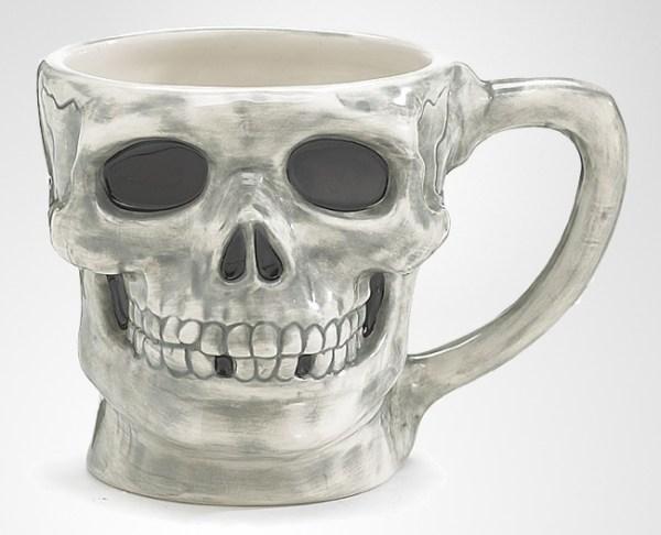 Large Skull Halloween Coffee Mug