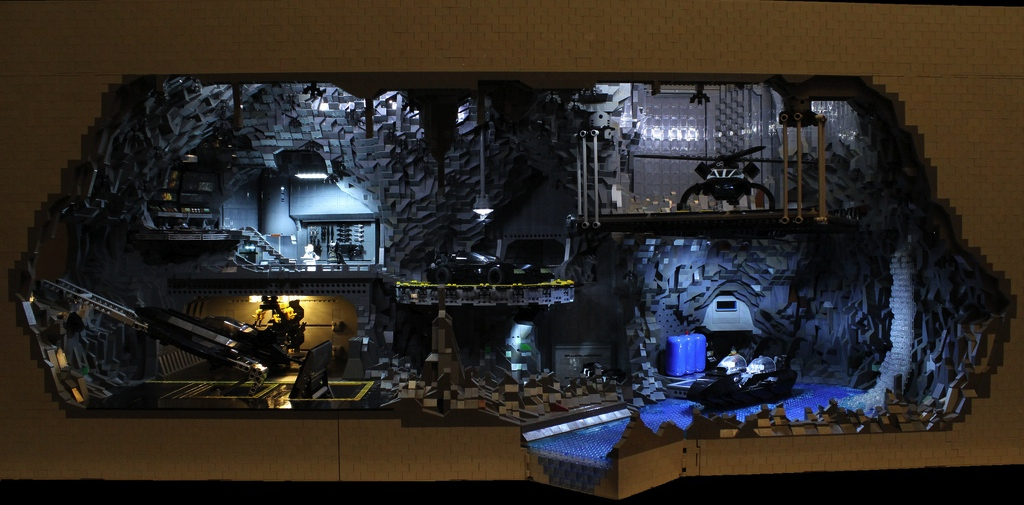 BatCave  The Batman Cave Made Entirely Out Of Legos