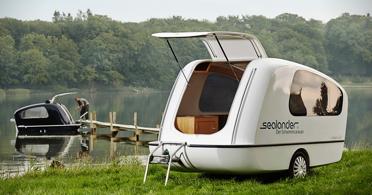 A Towable Trailer Thats Both A Camper And A Boat Sealander