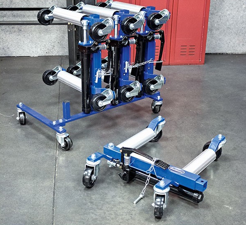 Eastwood Hydraulic Wheel Dolly Maximize Your Garage Space