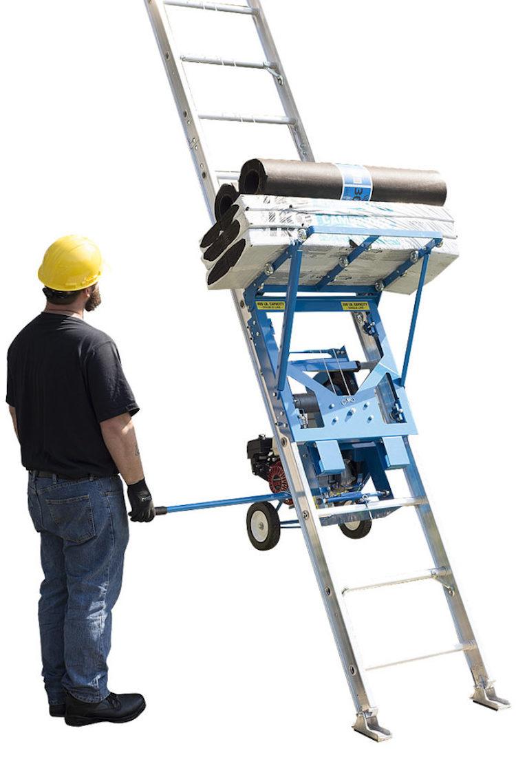 Safety Hoist Ladder Lift Lets You Safely Carry Heavy Loads