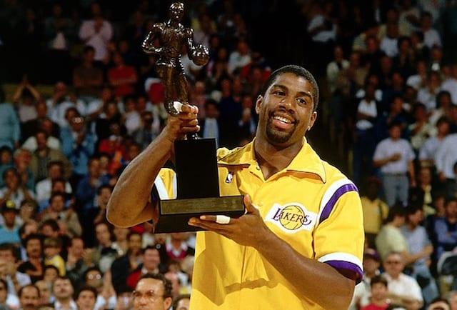 This Day In Lakers History Magic Johnson Named 1987 NBA