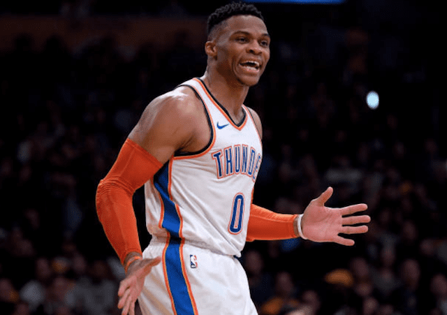 Lakers News: Russell Westbrook Says Stealing Lance Stephenson Air Guitar Celebration Was Him 'Having Fun' | Lakers Nation