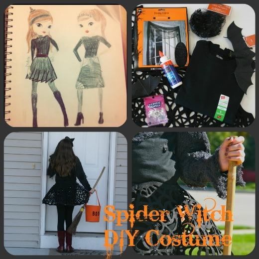 Cool homemade halloween costumes for tweens cartoonview home couture diy spiderweb witch halloween costume skimbaco solutioingenieria Gallery