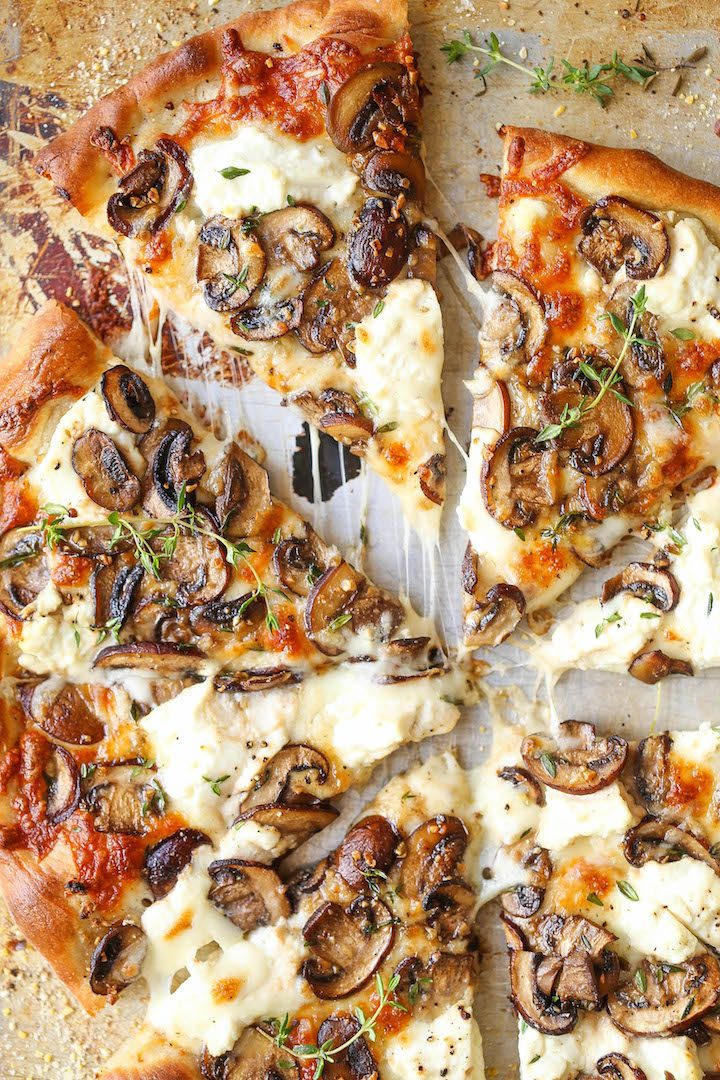 Resep Pizza Oven : resep, pizza, White, Mushroom, Pizza, Delicious