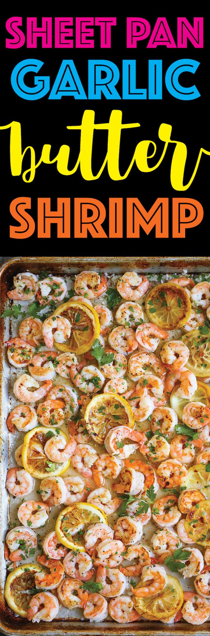 Sheet Pan Garlic Butter Shrimp