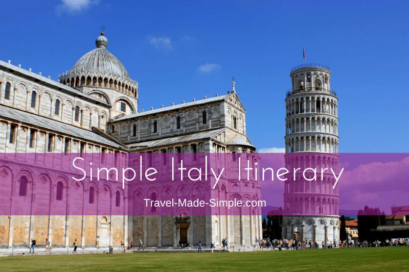simple italy itinerary ideas
