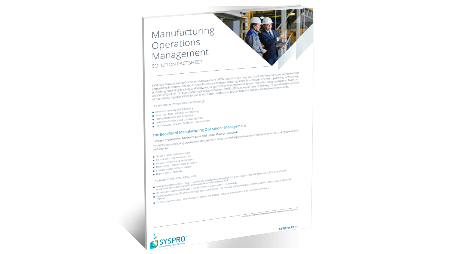 SYSPRO Manufacturing Operations Management