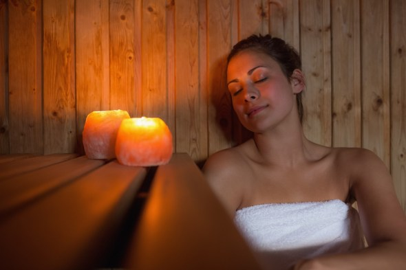 Image result for infrared salt sauna