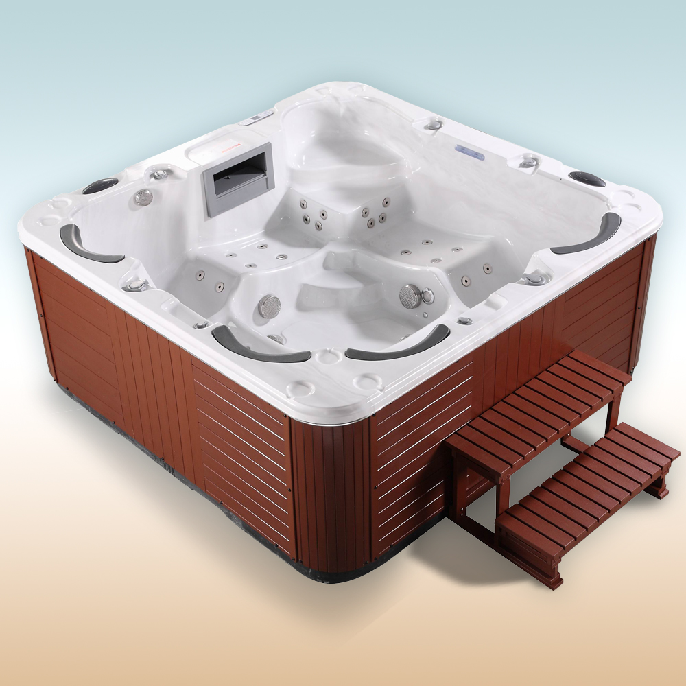 Outdoor Whirlpool Spa Luxury Hot Tub Jacuzzi 6 Person Relax Massage Heating USB  eBay