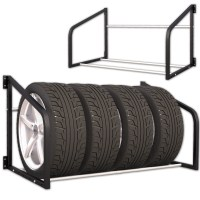 Tire Rack Wall Shelf Wall Mounted Tire Holder Wheel