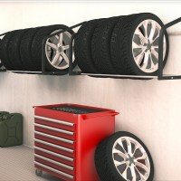 Tire Rack Wall Shelf Wall Mounted Tire Holder Wheel ...