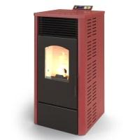 ELDSTAD Pellet Stove Fireplace Heater 7.2 KW Wood Pellet ...