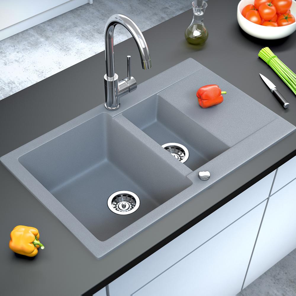 BERGSTROEM Lavello della cucina in granito lavello della cucina 800x495 grigio