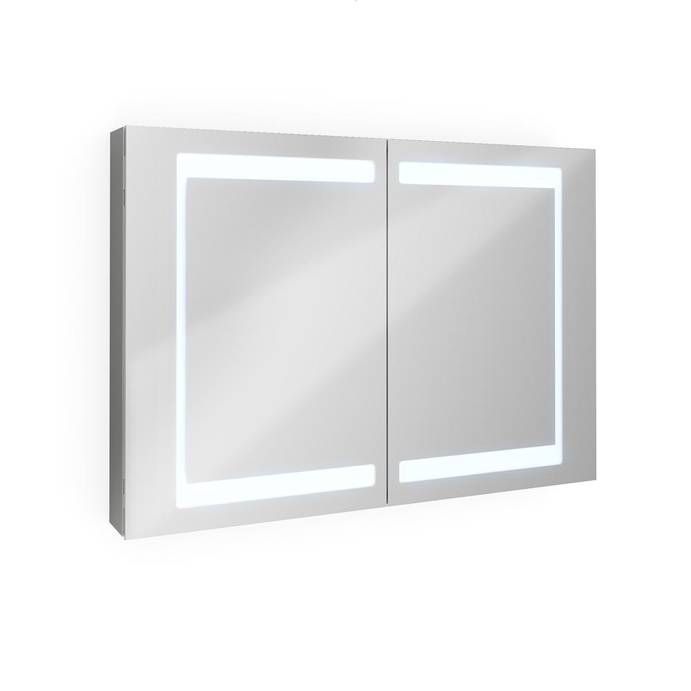 bathroom mirror cabinet bathroom cabinet LED mirror 100 cm
