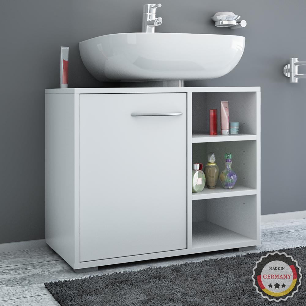 Mobile lavabo Sottolavabo Bagno Mobile Mobiletto bagno Sifone bianco  eBay